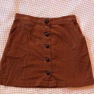 Urban Outfitters BDG corduroy mini skirt